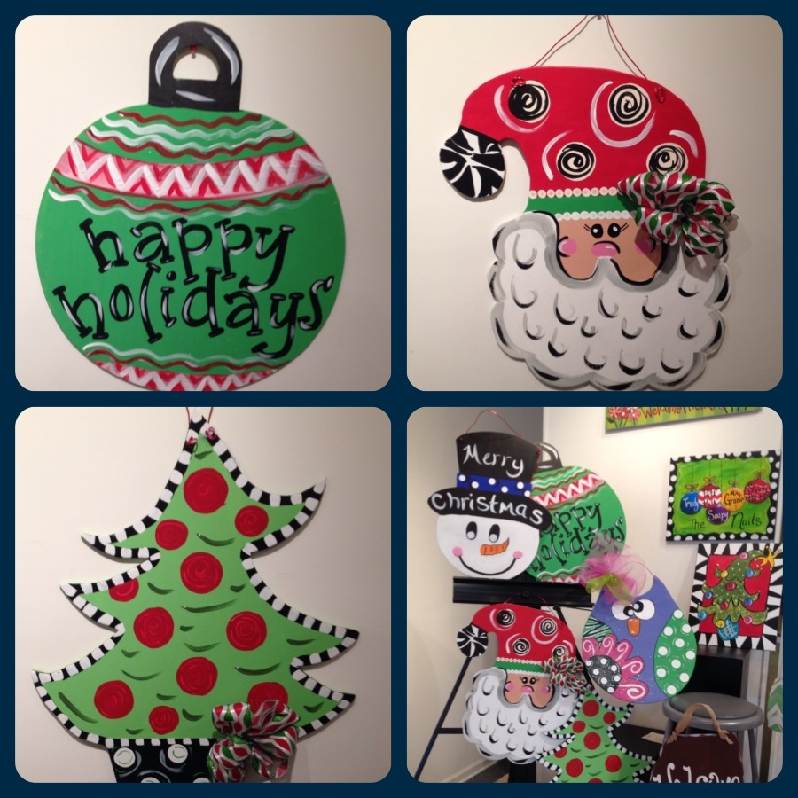 46 – Christmas Wood Door Hangers – Artist's Choice – Painting with ...