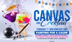 Canvas and Cocktail Fundraiser for Community Center @ The Reception Hall